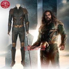 MANLUYUNXIAO High Quality New Aquaman Costume 2018 Movie Aquaman Cosplay Costume Aquaman Suit In Leather Custom Made