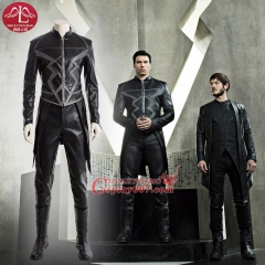 MANLUYUNXIAO Marvel DC Series Inhumans Black Blot Cosplay Costume For Men Black Suit full set Custom Made