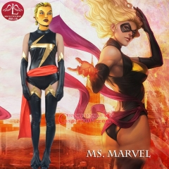 MANLUYUNXIAO Women's Captain Marvel Costume Ms. Marvel Carol Danvers Cosplay Costume For Women Whole Set Custom Made