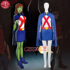 MANLUYUNXIAO New Arrival Anime Cosplay Young Justice Miss Martian Costume Halloween Cosplay Costume For Woman Custom Made