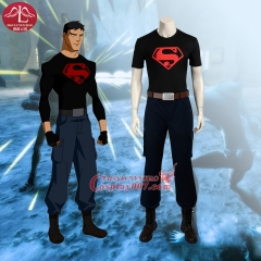 MANLUYUNXIAO New Men's Costume Young Justice Superboy Costume Halloween Cosplay Costume For Men Custom Made Men Basic
