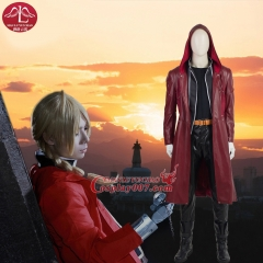 MANLUYUNXIAO Fullmetal Alchemist Costume Edward Elric's Cosplay Full Set Halloween Any Size For Adult