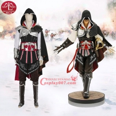 MANLUYUNXIAO Men Assassins Creed Costume Ezio Auditore Cosplay Costume For Halloween Carnival Party Men Full Set Custom Made