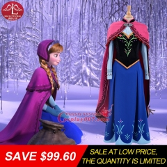 MANLUYUNXIAO Women Costume Anime Cosplay Frozen  Anna Dress Halloween Cosplay Costume For Women