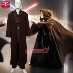 MANLUYUNXIAO Men's Costume Anakin Skywalker Cosplay Costume Deluxe Outfit Halloween Cosplay Costume for Men
