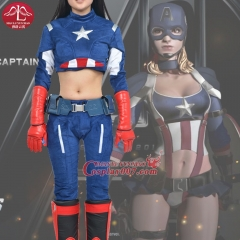 MANLUYUNXIAO New Arrival Captain America Cosplay Costume Women's Version Superhero Costume Halloween Party Cosplay Costume