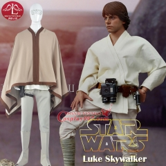 MANLUYUNXIAO Men's Costume Luke Skywalker Cosplay Costume Luke Outfit Halloween Cosplay Costume For Adult Men
