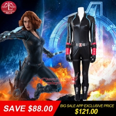 MANLUYUNXIAO Big Sale! Women Full Set The Avengers: Age of Ultron Black Widow Costume Natasha Romanoff Cosplay Costume For Women