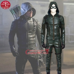 MANLUYUNXIAO Men's Costume Green Arrow Costume Deluxe Outfit Adult Halloween Carnival Cosplay Costume For Men Custom Made