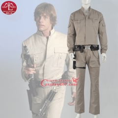 MANLUYUNXIAO Men's Costume Luke Skywalker Cosplay Costume Men Outfit Adult Halloween Cosplay Costume For Men Custom Made
