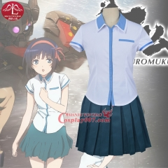 MANLUYUNXIAO Women's Anime Cosplay Kuromukuro Heroine Cosplay Costume Girls High School Uniform Set Wholesale