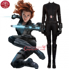 MANLUYUNXIAO Captain America 3 Black Widow Costume Natasha Romanoff Cosplay Costume Deluxe Outfit Halloween Costumes for Women