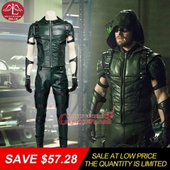 MANLUYUNXIAO Green Arrow Season 4 Cosplay Costume Adult Men Fancy Halloween Costumes Oliver Queen Green Arrow Costume