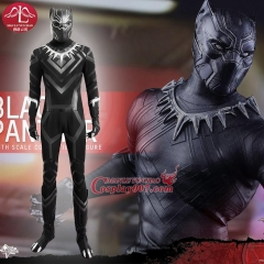 MANLUYUNXIAO Captain America 3 Civil War Black Panther Cosplay Costume Superhero Costume Adult Halloween Cosplay Costume For Men