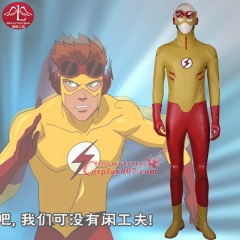 MANLUYUNXIAO New Arrival Young Justice Kid Flash Cosplay Costume Men's Costume Halloween Cosplay Costumes for Men