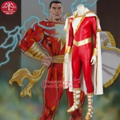 MANLUYUNXIAO  New Captain Marvel Shazam Costume Deluxe Outfit Halloween Costumes Men's Outfit Halloween Cosplay Costume For Men