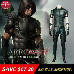 MANLUYUNXIAO Big Sale! Men's Costume Green Arrow Costume Men Full Suit  Halloween Cosplay Costumes For Men