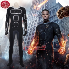MANLUYUNXIAO New Arrival Men's Fantastic Four Costume Human Torch Jonathan Storm Cosplay Costume For Men Custom Made
