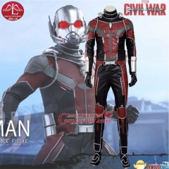 MANLUYUNXIAO High Quality Captain America Civil War Ant Man Costume Halloween Costumes For Men Superhero Ant-man Cosplay Costume