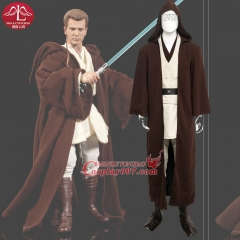 MANLUYUNXIAO Men's Costume Jedi Knight Obi-Wan Kenobi Cosplay Costume Deluxe Costume Halloween Costume For Men