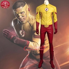 MANLUYUNXIAO The Flash Season 3 Kid Flash Costume Cosplay Wally West Adult Men Outfit Superhero Halloween Cosplay Costume