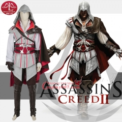 MANLUYUNXIAO Men Game Character Assassins Creed Costume Ezio Auditore Da Firenze Costume Halloween Costume For Men Custom Made