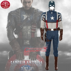 "MANLUYUNXIAO Captain America Costume Steven ""Steve"" Roger Cosplay Costume Superhero Costume Halloween Party Costume"
