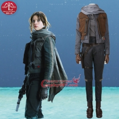 MANLUYUNXIAO New Women's Outfit  Rogue One: A Star Wars Story Jyn Erso Costume Halloween Cosplay Costumes For Women Custom Made