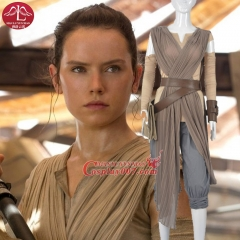 MANLUYUNXIAO Women Costume The Force Awakens Rey Costume Halloween Carnival Party Cosplay Costume For Women Custom Made