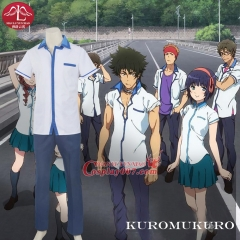 MANLUYUNXIAO Hot Sale Men's Anime Cosplay Kuromukuro Hero Cosplay Costume Boys High School Uniform Set