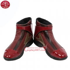 MANLUYUNXIAO New Arrival Justice League The Flash Boots Halloween Carnival Cosplay Boots For Adult Men