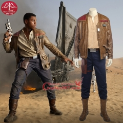 MANLUYUNXIAO Star Wars 8 Finn Cosplay Costume Adult Men Full Set Halloween Party For Men Custom Made