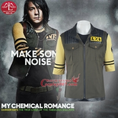 MANLUYUNXIAO My Chemical Romance Guitarist Frank Iero Cosplay Costume Men's T-Shirts and Jacket Custom Made