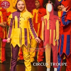MANLUYUNXIAO Circus Clown Cosplay Costume Whole Set Halloween Costumes For Kids Carnival Party Cosplay Costume For Kids