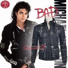 ManLuYunXiao 2017 Cosplay Costume Michael Jackson Roleplay Michael Jackson Cosplay Men's Jacket Coat Custom Made