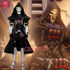 MANLUYUNXIAO Game OW Cosplay Black Gabriel Reyes Reaper Cosplay Costume Halloween Costumes For Men Reaper Mask Reaper Costume