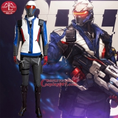 MANLUYUNXIAO New High Quality Custom Made Game OW Men Soldier 76 Costume Full Set Halloween Cosplay Costume For Men