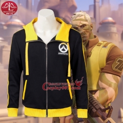 MANLUYUNXIAO Game Over Watch Cosplay Costume Yellow Coat For Game Over Watch Costume Custom Made