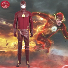 MANLUYUNXIAO New Fashion Men's The Flash Season II Barry Allen Cosplay Costume Outfit Red Halloween Costumes for Men Custom Made