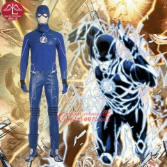 MANLUYUNXIAO Hot Superhero Blue The Flash Costume Halloween Carnival Cosplay Costume For Men Wholesale Factory price Custom Made