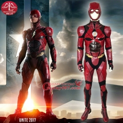 MANLUYUNXIAO New Movie Justice League The Flash Cosplay Costume Deluxe Outfit Halloween Cosplay Costumes for Men High Quality