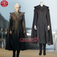 ManLuYunXiao Hot TV Shows Game of Thrones 7 Mother of Dragons Cosplay Costume Daenerys Targaryen Outfit For Women Custom Made