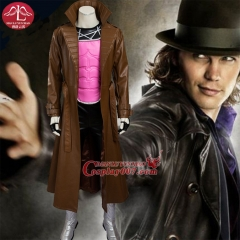 MANLUYUNXIAO Arrival X Men Cosplay Costume Gambit Remy LeBeau Deluxe Outfit for Men Custom Made