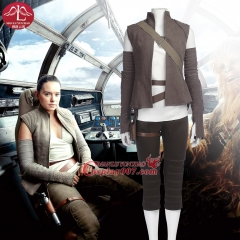 MANLUYUNXIAO Movie Star Wars 8 The Last Jedi Resistance Member Rey Cosplay Costumes Outfit Custom Made