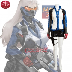 MANLUYUNXIAO New Hot Game OW Soldier 76 Cosplay Costume Deluxe Outfit Cosplay Costume for Adult Halloween Costumes For Women