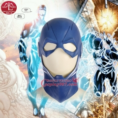 MANLUYUNXIAO The Flash Mask DC Movie Cosplay Costume Prop Halloween Full Head Latex Party Masks Blue