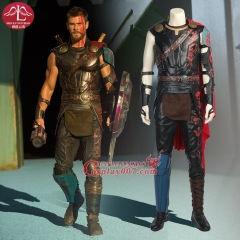 ManLuYunXiao Marvel Movie Thor Ragnarok Thor Cosplay Costume For Men Full Set Halloween Party Clothing With Cloak