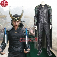 ManLuYunXiao Thor Ragnarok Loki Cosplay Costume Adult Halloween For Men Outfit Leather Suit Custom Made