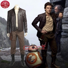 ManLuYunXiao Star Wars 8 Poe Dameron Cosplay Costume Adult Full Set Halloween Party For Men Custom Made