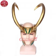 ManLuYunXiao Movie Thor Character Loki Cosplay Mask Cosplay Costume PVC Helmet For Sale
